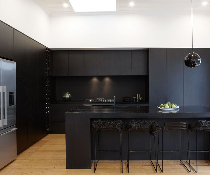 The modern kitchen in 2018 matte makes a statement semfim for Matte black kitchen doors